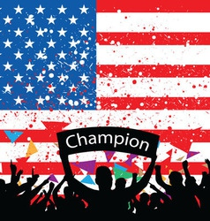 crowd cheer America vector image