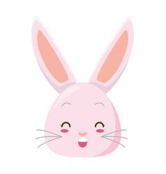 cute rabbit face cartoon vector image