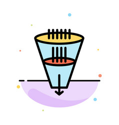 Data filter filtering filtration funnel abstract vector