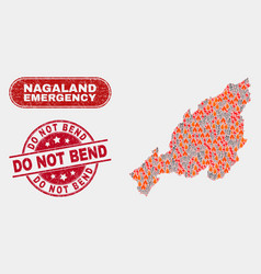Disaster and emergency collage nagaland state vector