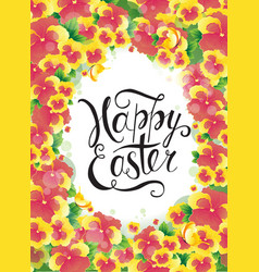 easter egg hunt party poster design vector image