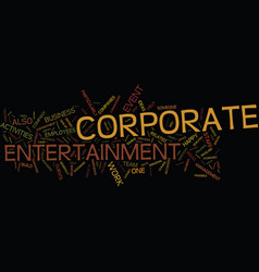 Entertain your staff for larger profits text vector