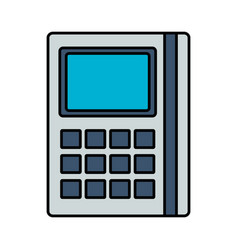 financial calculator math vector image