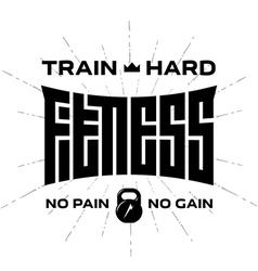 Fitness - original lettering print for t-shirt or vector