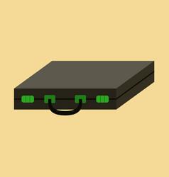 flat icon on stylish background business case vector image