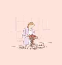 floristics business decoration concept vector image