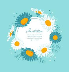 flowers card chamomile background daisy wreath vector image