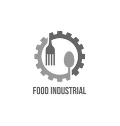 food industry logo design vector image