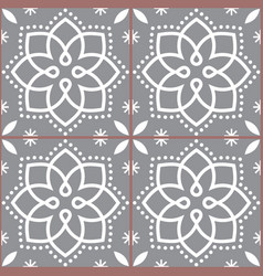 geometric azulejo tile seamless pattern vector image