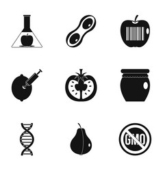 Gmo icon set simple style vector