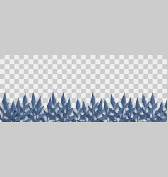 Halloween dark plant paper origami vector