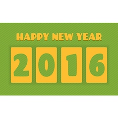 Happy new year 2016 Text design greeting card vector image