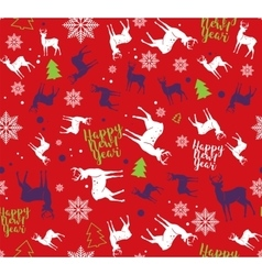 Happy new year seamless pattern for wrapping vector