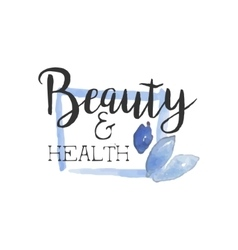 Health And Beauty Promo Sign vector