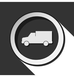 icon - lorry car with shadow vector image