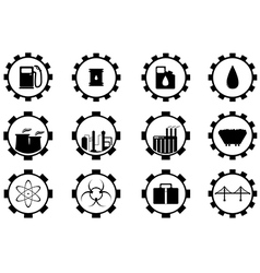 Industry and business icons vector image