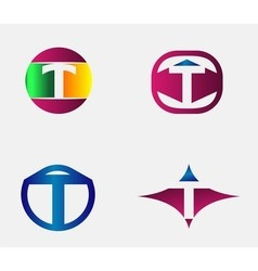 Letter T Logo alphabet design element templ vector image