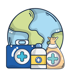 Medical supplies cartoon vector