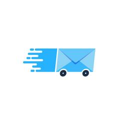 message delivery logo icon design vector image