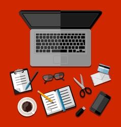 Modern business office workspace vector