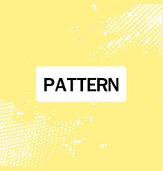 modernistic dot tech pattern yellow background vec vector image