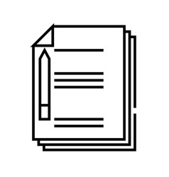 Notes line icon concept sign outline vector