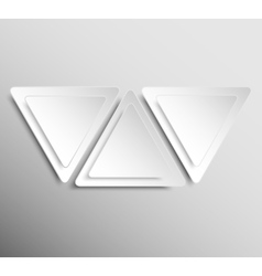 Paper Banner Design Mockup Triangle vector