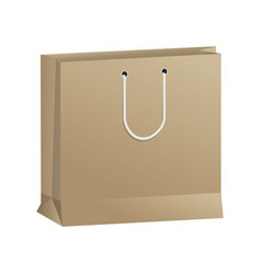 paper shopping bag handle package icon vector image