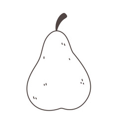 pear organic fresh nutrition healthy food isolated vector image