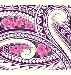 polynesian style ornament vector image
