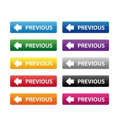 Previous buttons vector image