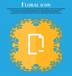 Remove Folder icon Floral flat design on a blue vector