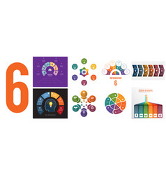 Set 8 universal templates for infographics vector