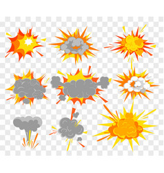 set explosion effect in vector image