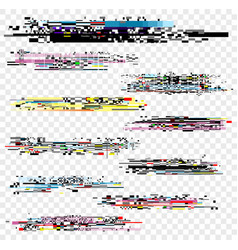 set of noise effect decay vector image