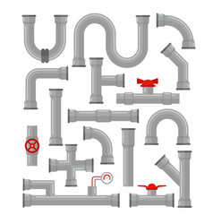 set pipes different types vector image