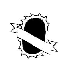 shield decorative badge style sketch vector image