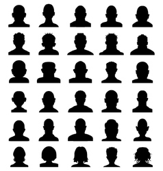 Silhouettes of heads vector