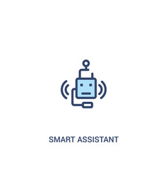 Smart assistant concept 2 colored icon simple vector