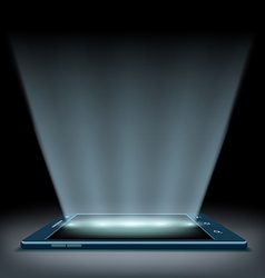 Smartphone with a hologram screen vector