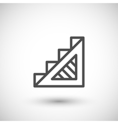 Stairs line icon vector