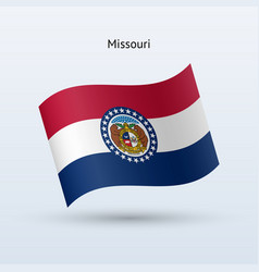 state of missouri flag waving form vector image