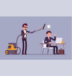 Stealing business ideas vector