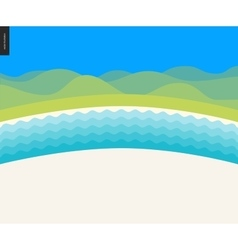 Summer beach landscape background vector image
