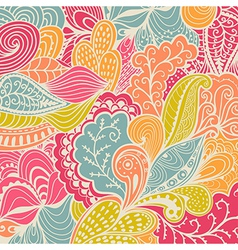 Texture with abstract flowers Colorful background vector