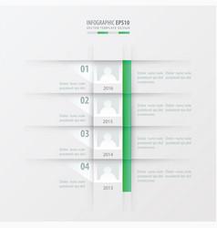 timeline report design template green gradient vector image