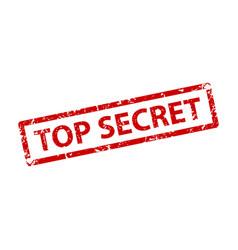 top secret sign sticker stamp texture vector image