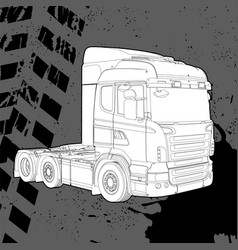 truck on a dark background vector image