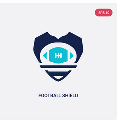 two color football shield icon from american vector image