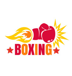 Vintage logo for a boxing vector